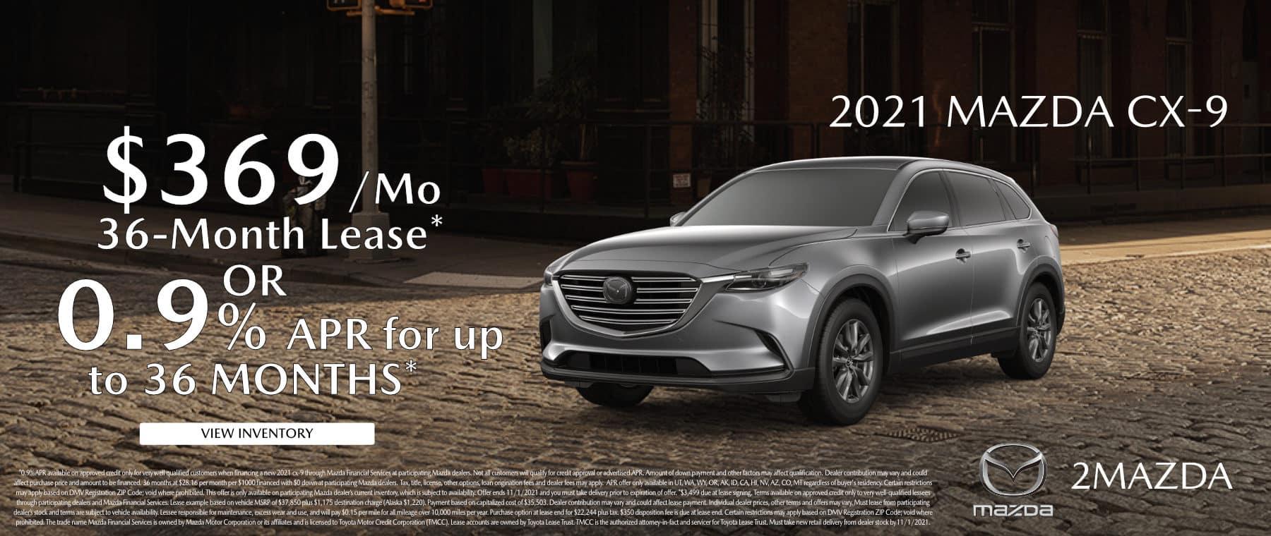 October_2021 Mazda CX-9 2Mazda