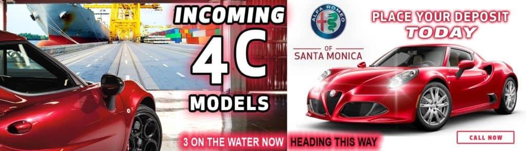 NEW ALFA ROMEO 4C MODELS
