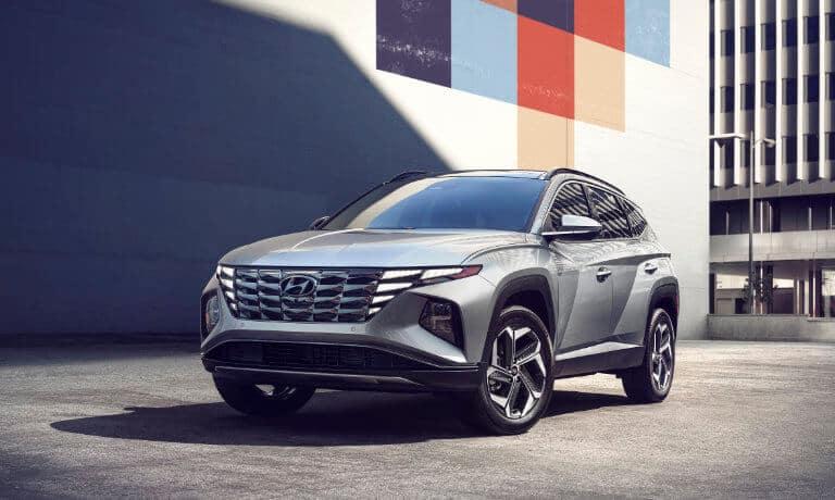 2022 Hyundai Tucson exterior city parking lot