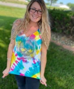Spiral tie-dye harley-davidson tshirt