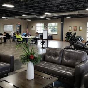 lobby and classroom