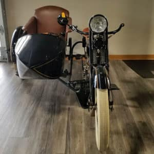 old motorcycle front view
