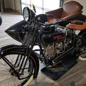old motorcycle side view