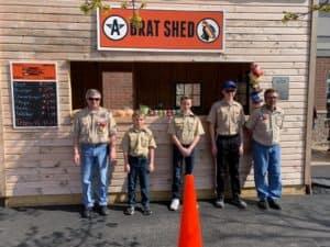 Boy Scouts at Brat Shed