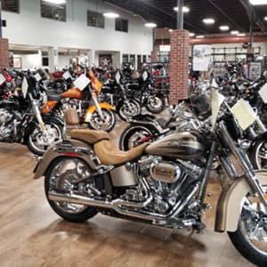 Motorcycle showroom