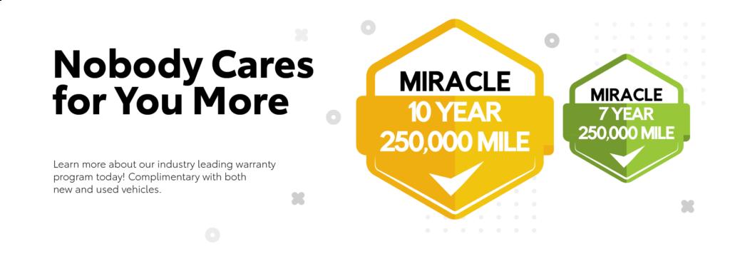 Miracle Warranty - Landing Page Slide