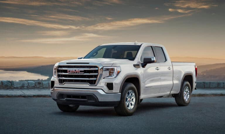 2021 GMC Sierra 1500 white exterior pickup truck