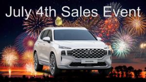 Hyundai Santa Fe July 4th 2021