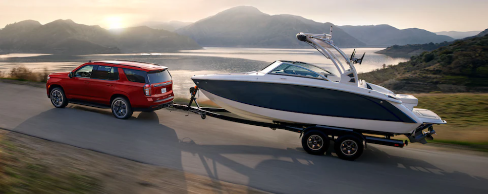 2021 chevy tahoe towing boat