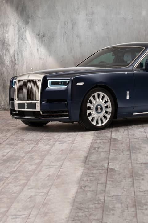Luxury vehicle angled