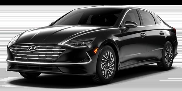 2021 Hyundai Sonata Hybrid Limited in black.