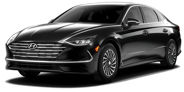 2021 Hyundai Sonata Hybrid SEL in black.