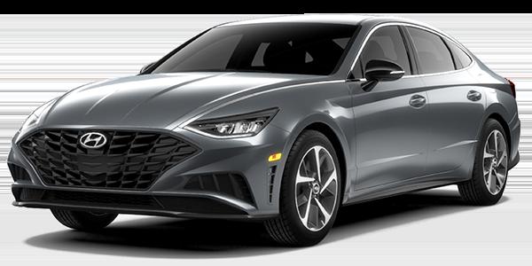 2021 Hyundai Sonata SEL Plus in grey color.