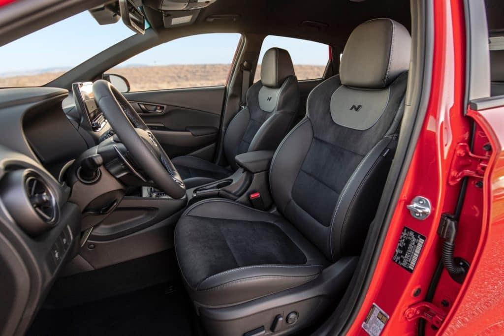 2022 Hyundai Kona N interior black