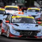 Hyundai Elantra N racing at Watkins Glen IMSA Michelin Pilot Challenge