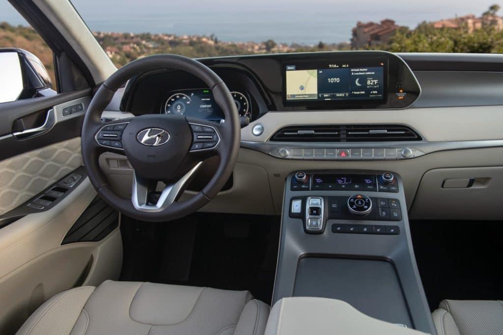 2021 Hyundai Palisade dashboard gray