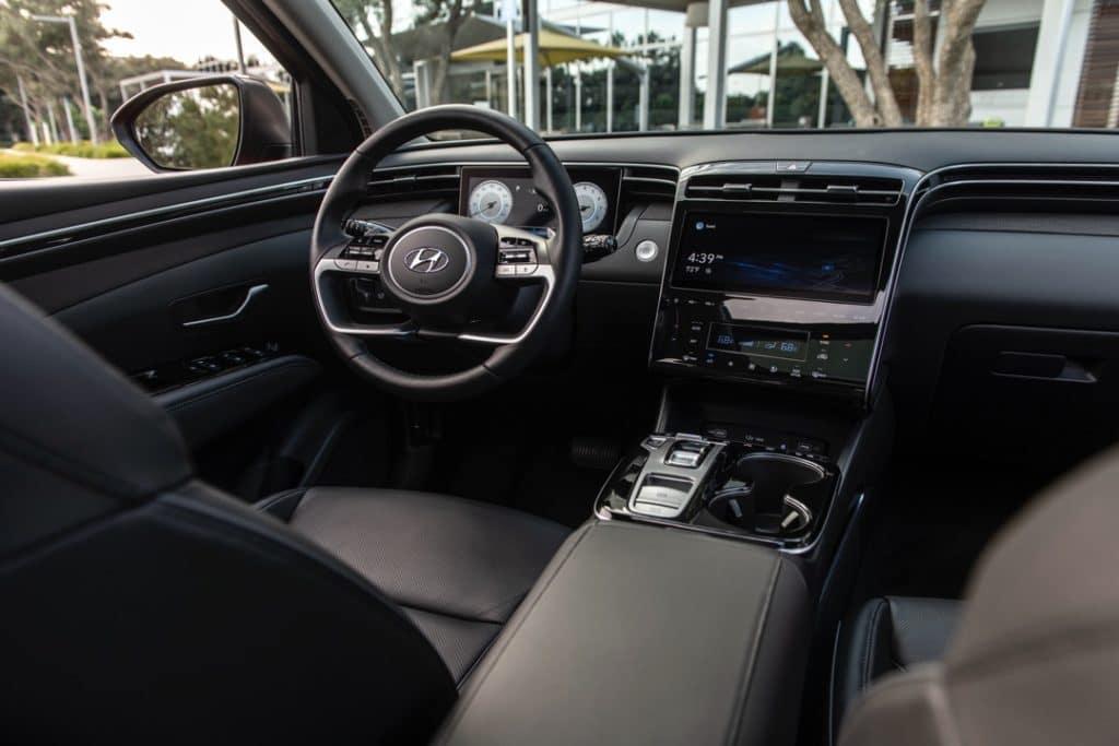 2022 Hyundai Tucson dashboard black Limited