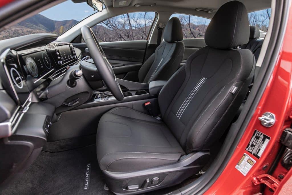 2021 Hyundai Elantra interior seats black