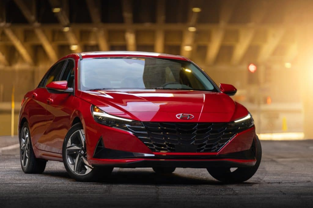 2021 Hyundai Elantra red
