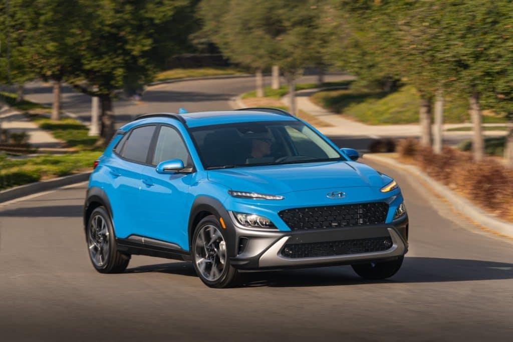 2022 Hyundai Kona Limited blue