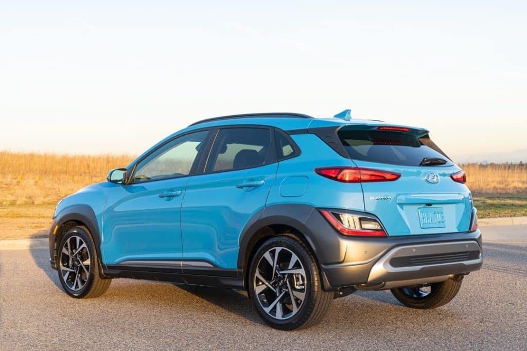 2022 Hyundai Kona Limited rear blue
