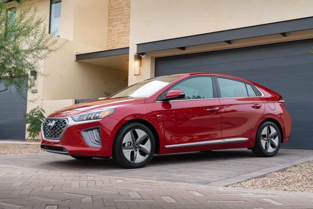 2022 Ioniq Hybrid front side red