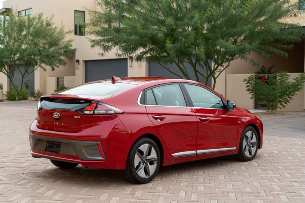 2022 Hyundai IONIQ Hybrid rear 3/4 red