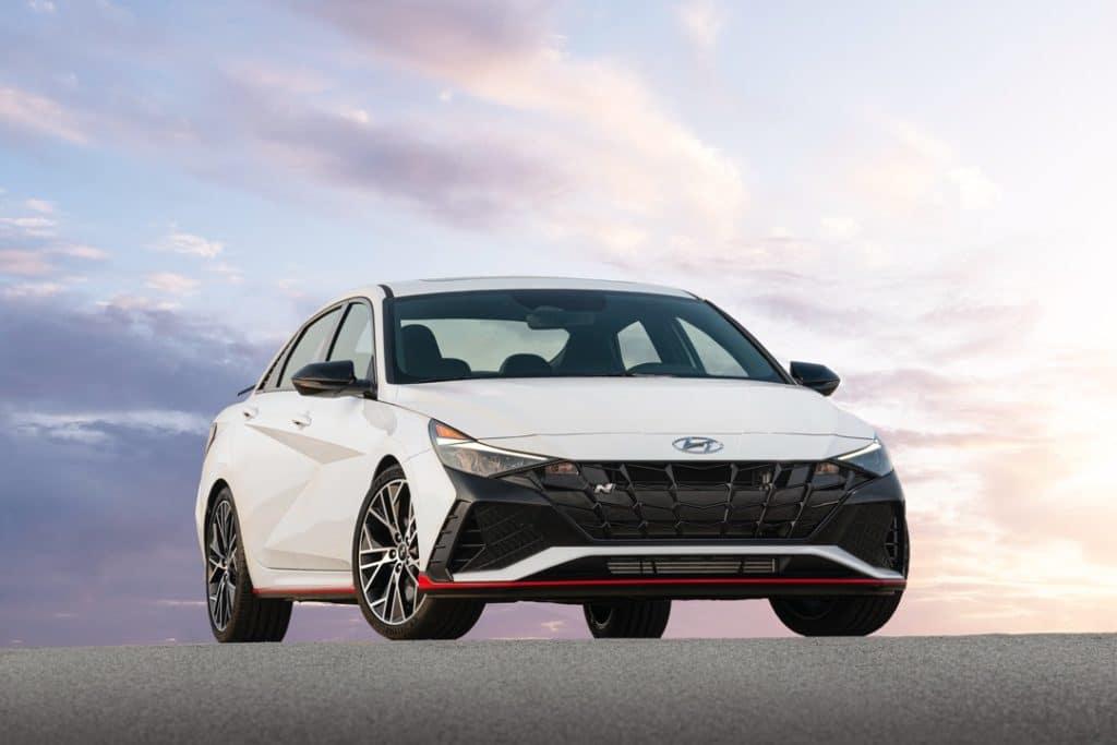 2022 Hyundai Elantra N white