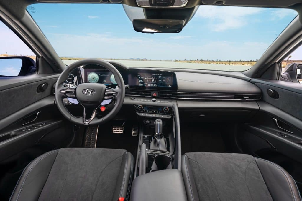 2022 Hyundai Elantra N interior black