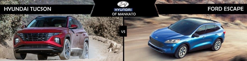 2022 Hyundai Tucson vs Ford Escape Comparison