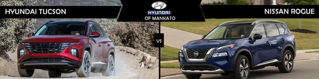 2022 Hyundai Tucson vs Nissan Rogue comparison