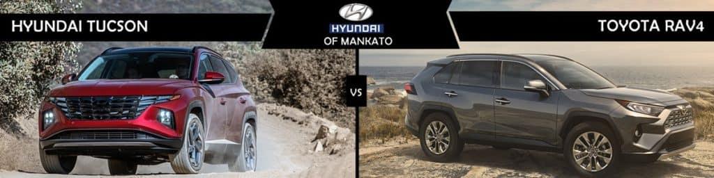 2022 Hyundai Tucson vs Toyota RAV4 comparison