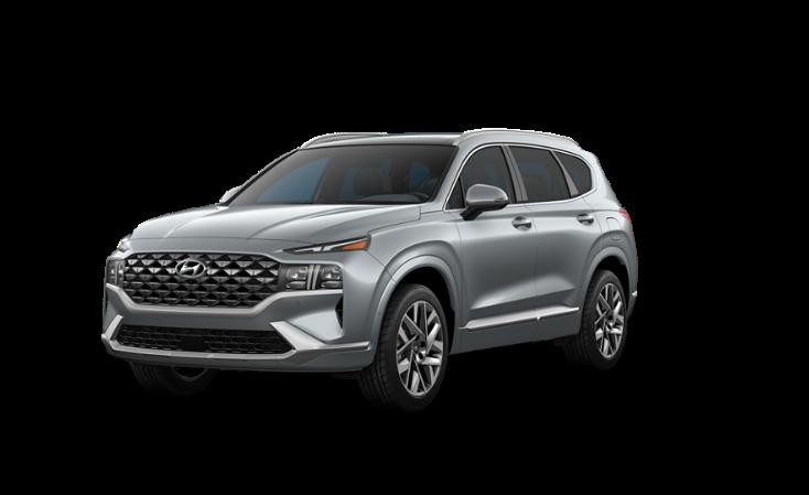 2022 Hyundai Santa Fe Calligraphy grey color.