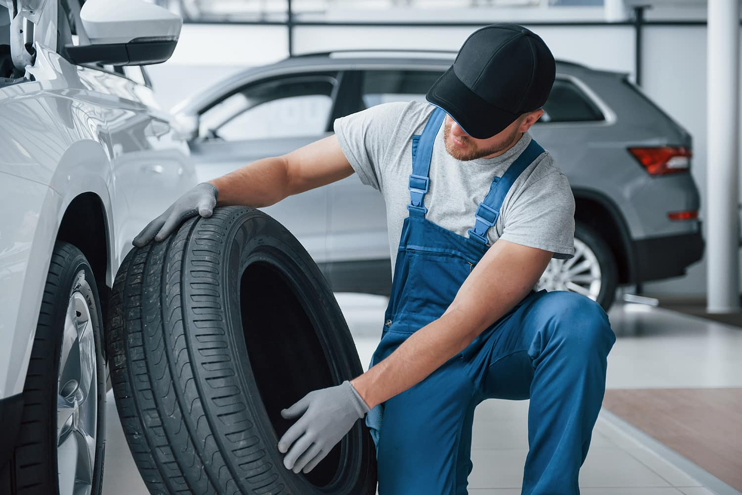 How to check your tires' health at Jack Giambolvo Buick-GMC of York | Service technician inspecting used tire