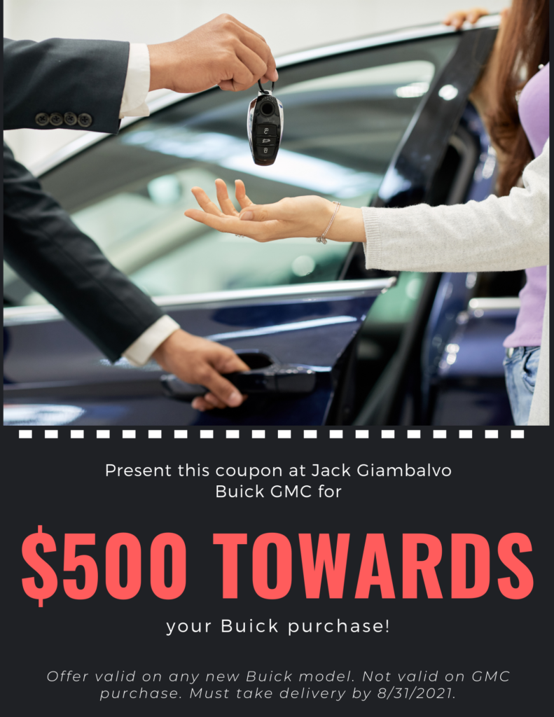 $500 Towards a Buick Purchase
