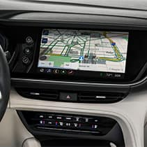 Model Features of the 2021 Buick Envision at Jack Giambalvo Buick-GMC | Dash board map and navigation