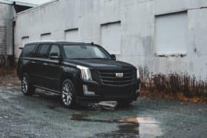 new cadillac escalade in an alleyway in Guthrie