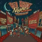 a poster for red brick nights, a series of events held in Guthrie, Oklahoma
