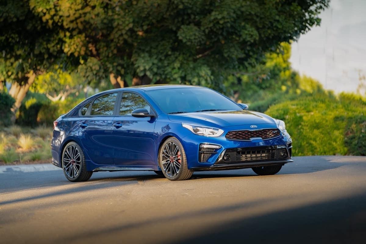2021 Kia Forte GT Sport blue