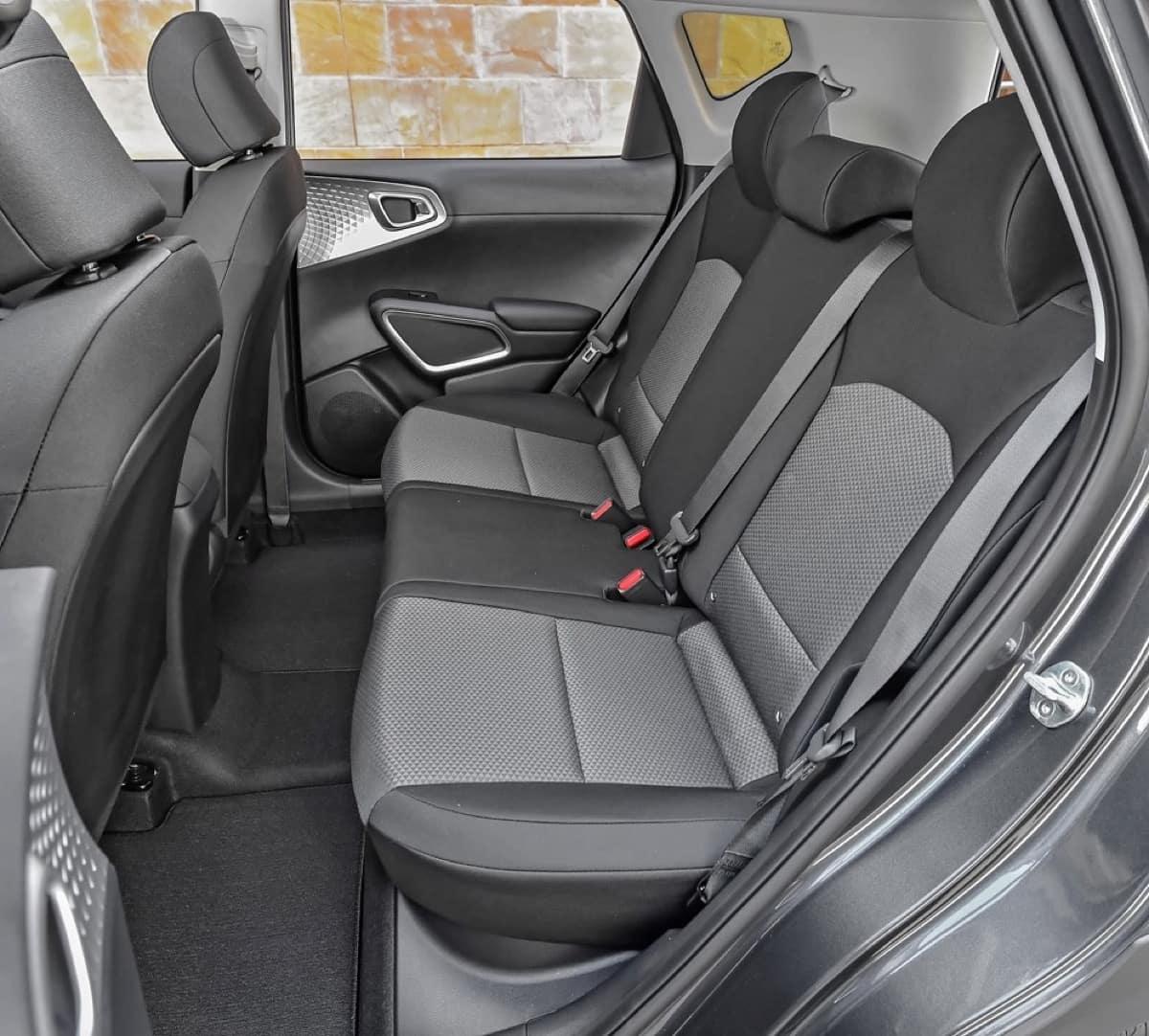 2022 Kia Soul interior rear seats black