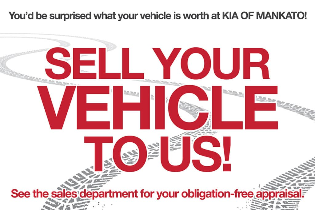 Kia of Mankato Sell Us Your Vehicle Get a Fair Price