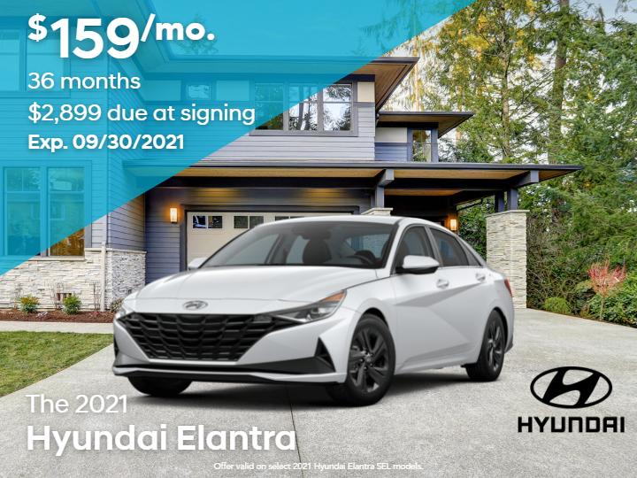 New 2021 Hyundai Elantra SEL FWD 4D Sedan