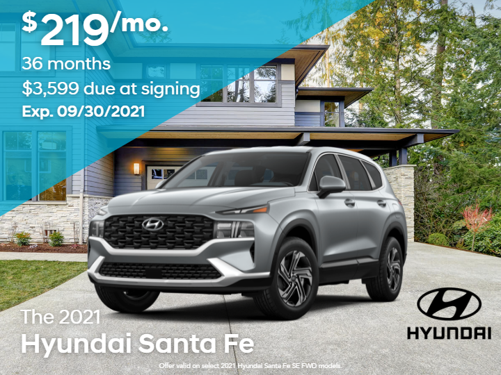 New 2021 Hyundai Santa Fe SE AWD 4D Sport Utility