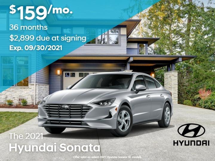 New 2021 Hyundai Sonata SE FWD 4D Sedan