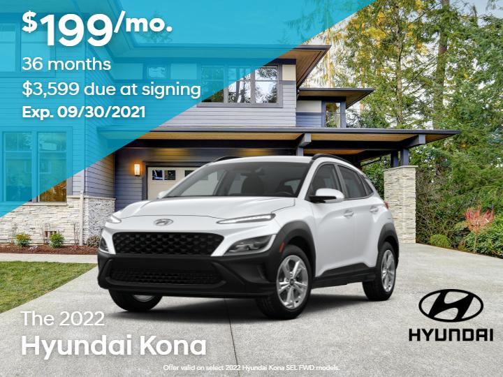 New 2022 Hyundai Kona SEL FWD 4D Sport Utility