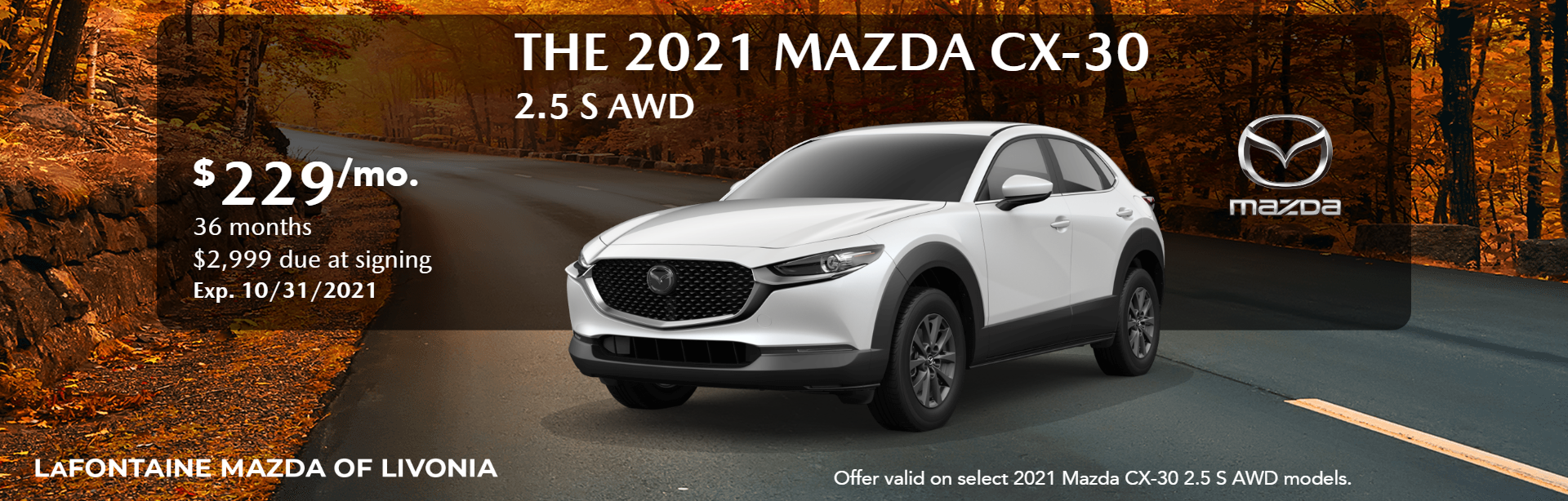 2021_Mazda_CX-30_2.5 S AWD_Website Lease Banner