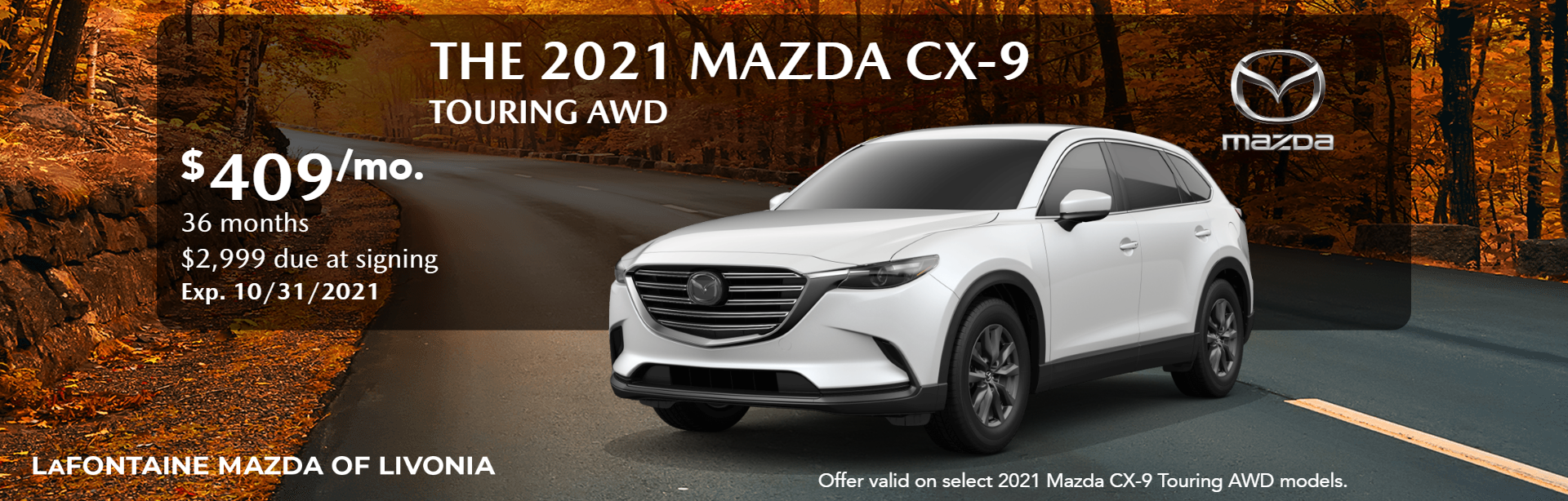 2021_Mazda_CX-9_Touring AWD_Website Lease Banner