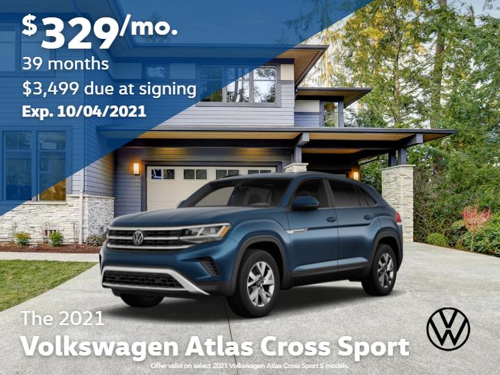 New 2021 Volkswagen Atlas Cross Sport S w/4Motion