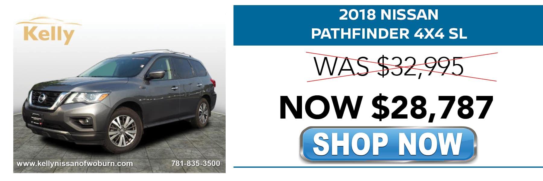 2018 Nissan Pathfinder SL Now $28,787