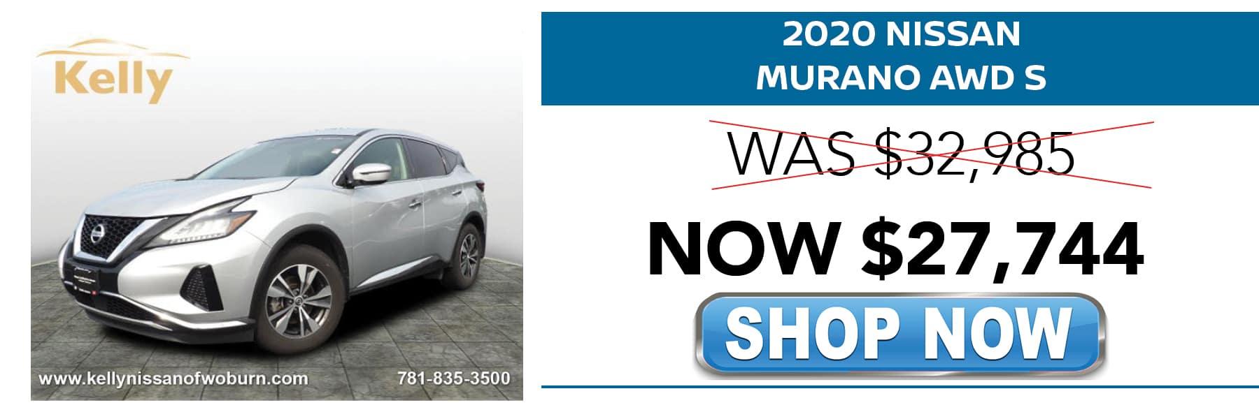 2020 Nissan Murano S Now $27,744